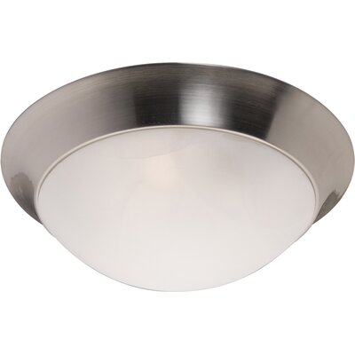 Marblehead 2-Light Flush Mount Fixture Finish: Satin Nickel