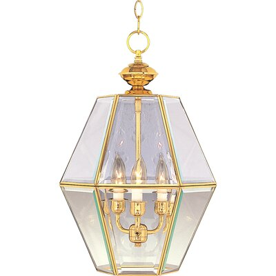 Bound Glass 3-Light Entry Foyer Pendant Finish: Polished Brass