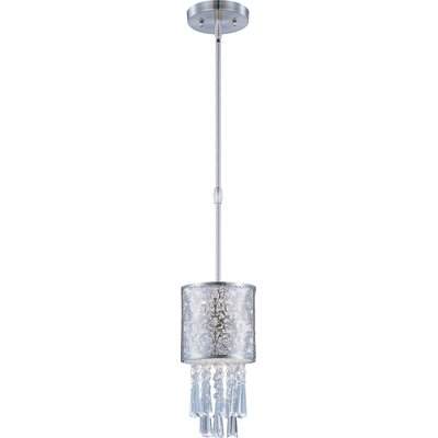 Rapture 1-Light Mini Pendant Shade Color: White