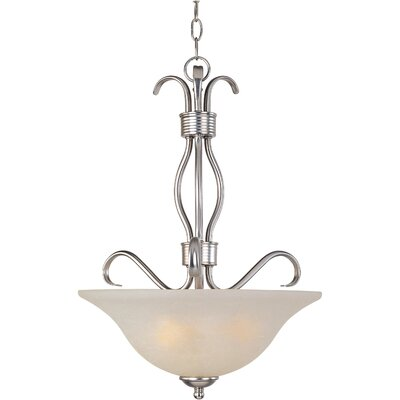 Basix EE 3-Light Invert Bowl Pendant Finish: Satin Nickel