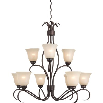 Gullette 9-Light Shaded Chandelier Finish: Oil Rubbed Bronze