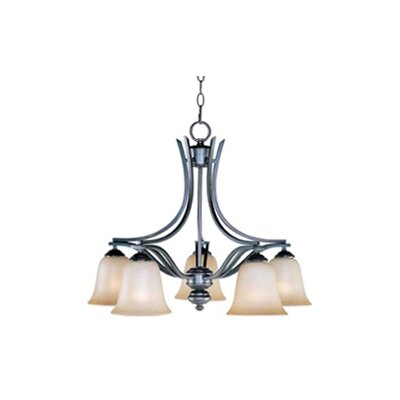 Mansfield 5-Light Shaded Chandelier Finish: Sand Stone
