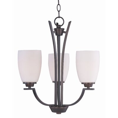 Barys 3-Light Shaded Chandelier Finish: Oil Rubbed Bronze