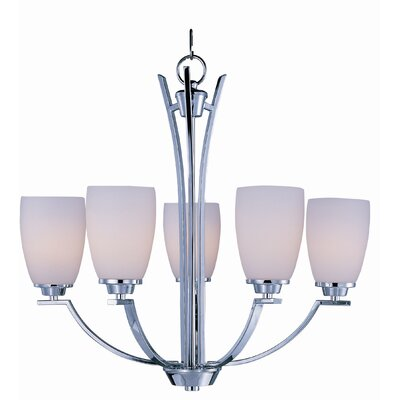 Barys 5-Light Shaded Chandelier Finish: Polished Chrome