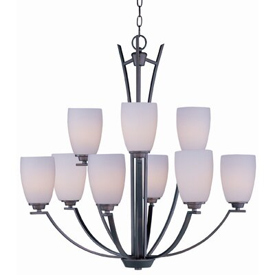 Barys 9-Light Shaded Chandelier Finish: Oil Rubbed Bronze