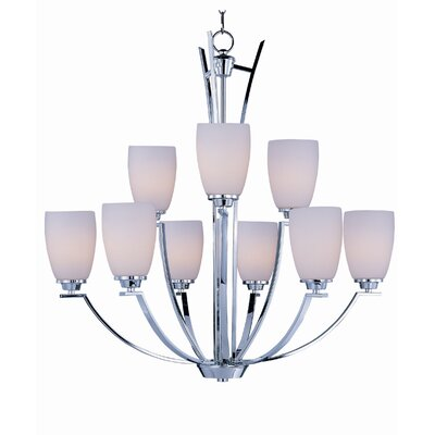 Barys 9-Light Shaded Chandelier Finish: Polished Chrome
