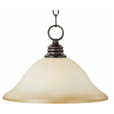 Candelaria 1-Light Pendant Glass/Finish: Wilshire/Oil Rubbed Bronze