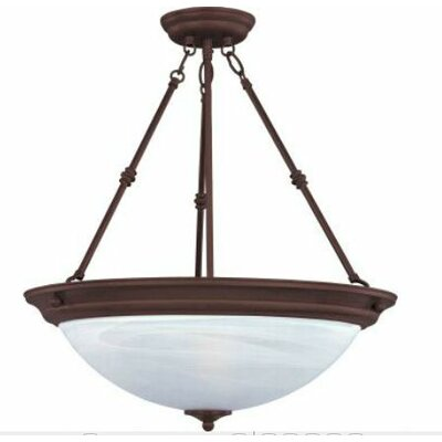 Maineville 3-Light Invert Bowl Pendant Finish/Shade Finish: Marble/Oil Rubbed Bronze