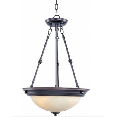 Maineville 3-Light Invert Bowl Pendant Finish/Shade Finish: Wilshire/Oil Rubbed Bronze