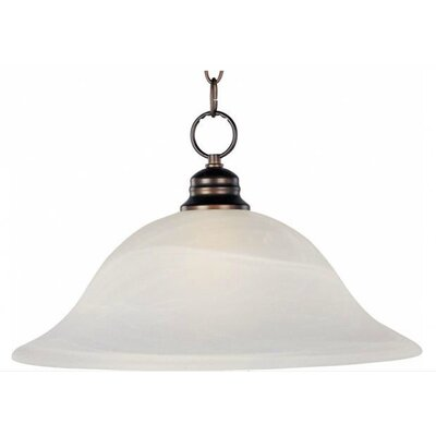 Candelaria 1-Light Pendant Glass/Finish: Marble/Oil Rubbed Bronze