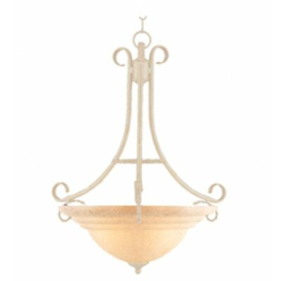 2 Light Inverted Bowl Pendant Finish: Country Stone