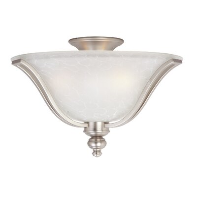 Mansfield 3-Light Flush Mount Finish: Sand Stone / Ice