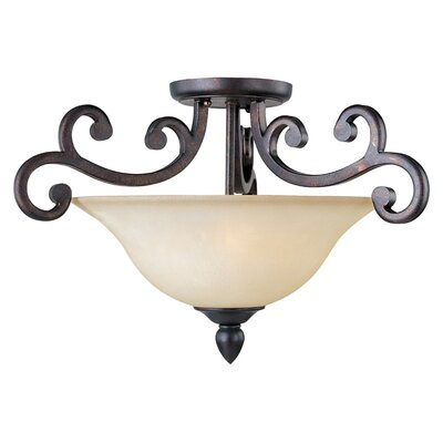 Wiltse 3-Light Semi-Flush Mount