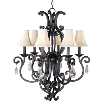 Richmond 6-Light Shaded Chandelier Shades: No