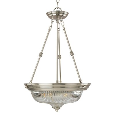 Campbelltown 3-Light Invert Bowl Pendant Finish: Satin Nickel