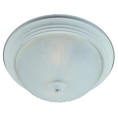 1-Light Flush Mount Finish: Textured White, Size: 6 H x 14 W