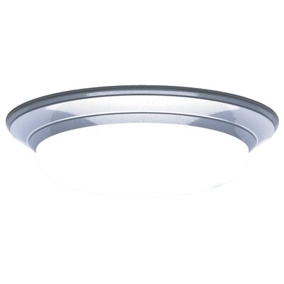 Mousoupetros 2-Light Flush Mount Finish: Satin Nickel, Size: 4 H x 17 W