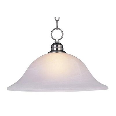 Candelaria 1-Light Pendant Glass/Finish: Marble/Satin Nickel