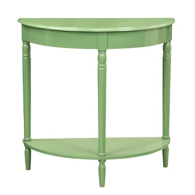 French Country Console Table Finish: Green