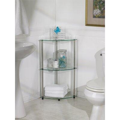 Buy Low Price Convenience Concepts Classic Glass 3-Tier Corner Shelf (CVC1005)