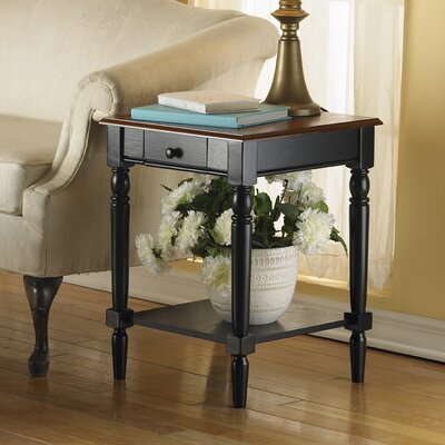 Cheap Convenience Concepts French Country End Table with Drawer & Shelf (CVC1010)