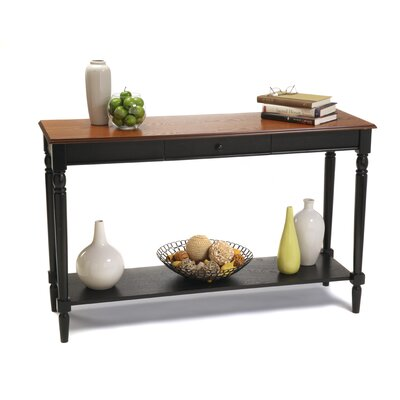 Cheap Convenience Concepts French Country Console Table with Bottom Shelf (CVC1035)