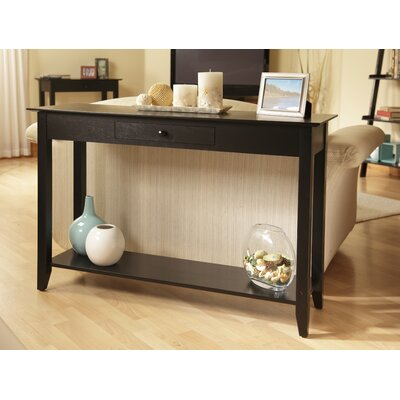 Cheap Convenience Concepts American Heritage Console Table in Black (CVC1054)