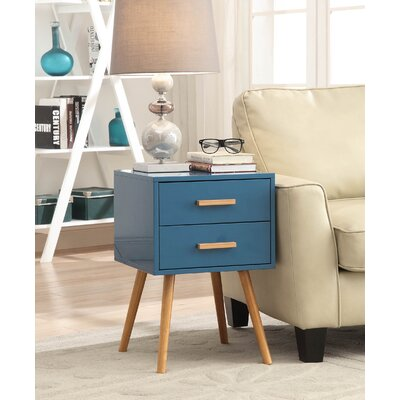 Phoebe End Table With Storage Color: Blue
