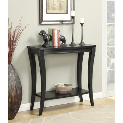 Grovetown Console Table II Finish: Black