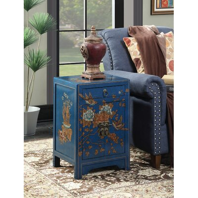 Raiden 1 Drawer End Table Color: Blue