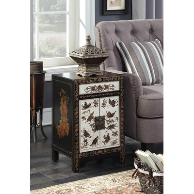 Raiden 1 Drawer End Table Finish: Black/White