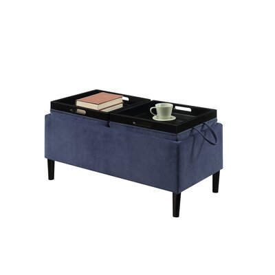 Ramires Storage Ottoman Upholstery: Blue Fabric