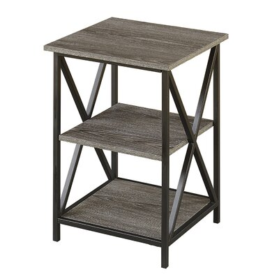 Abbottsmoor End Table With Storage Color: Gray