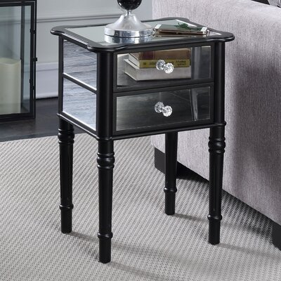 Dafne End Table with Storage Color: Black