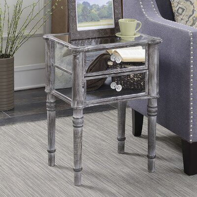 Dafne End Table with Storage Color: Weathered Gray