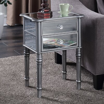 Cordelia Mayfair End Table Finish: Silver