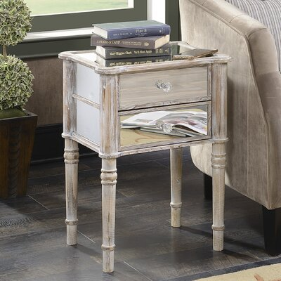 Cordelia Mayfair End Table Finish: Weathered White