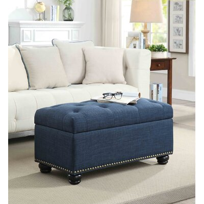 Sylvester Storage Ottoman Upholstery: Blue Fabric