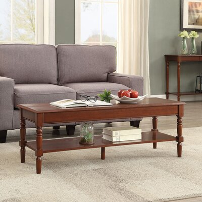 Callery Coffee Table with Magazine Rack Base Finish: Espresso, Top Finish: Espresso