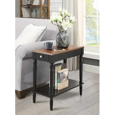 Carlisle End Table With Storage Color: Dark Walnut