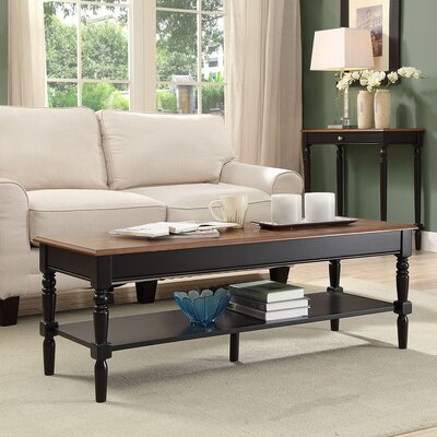 Callery Coffee Table Base Color: Black, Top Color: Dark Walnut