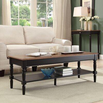 Callery Coffee Table Base Color: Black, Top Color: Dark Walnut