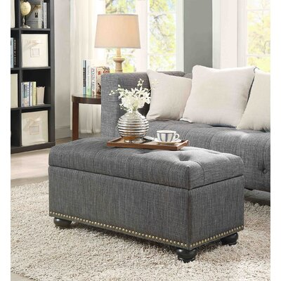 Sylvester Storage Ottoman Upholstery: Gray Fabric