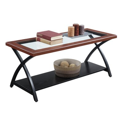 Jeannine Coffee Table with Magazine Rack