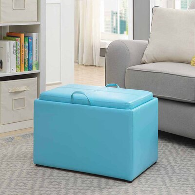 Marla Accent Storage Ottoman Upholstery: Teal