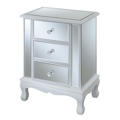 Rothman End Table with Storage Finish: White