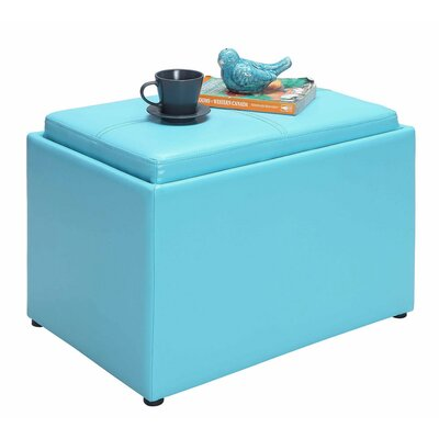 Michigan Accent Storage Ottoman Upholstery: Teal