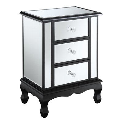 Rothman End Table with Storage Finish: Black