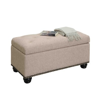 Michigan 7th Avenue Storage Ottoman Upholstery: Tan