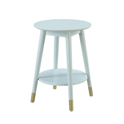 Boese End Table Color: Sea Foam